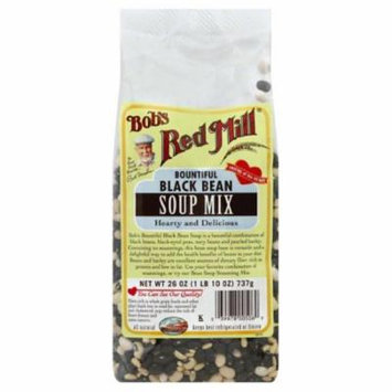 Bobs Red Mill Bountiful Black Bean Soup Mix, 26 Oz (Pack of 4)