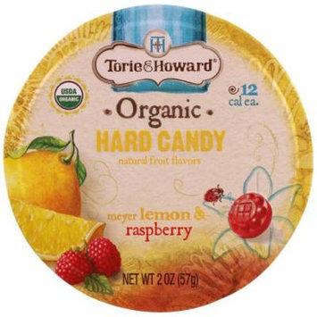Torie & Howard, Organic, Hard Candy, Meyer Lemon & Raspberry, 2 oz (pack of 12)