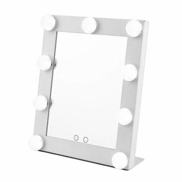 Led Bulb Vanity Lighted Hollywood Makeup Mirror with Dimmer Stage Beauty Mirror White