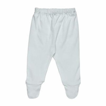 Organic Cotton Footed Pant - Pale Blue