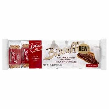 Lotus Cookies with Belgian Milk Chocolate, 5.4 Oz (Pack of 12)
