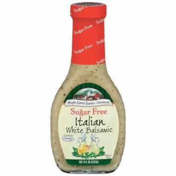 Maple Grove Farms Sugar Free Italian White Balsamic Dressing 8 Oz (Pack of 6)
