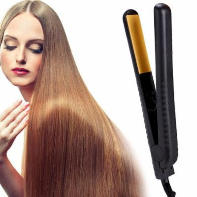Professional 1 Inch Flat Iron with Ceramic Plate for All Hair Types,Auto Shut off Adjustable Temperature(Black)