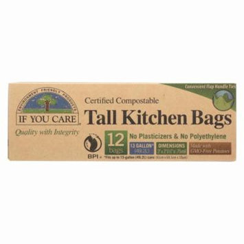 If You Care Trash Bags - Certified Compostable - Pack of 12 - 12 Count