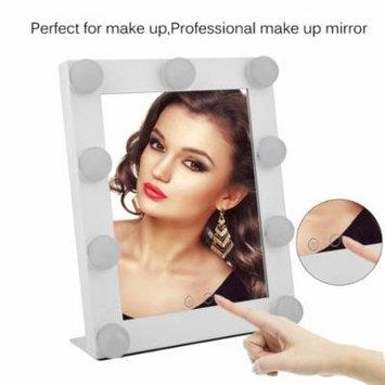 Portable 9 LEDs Bulb Lighted Tabletop Beauty Makeup Bath Mirror