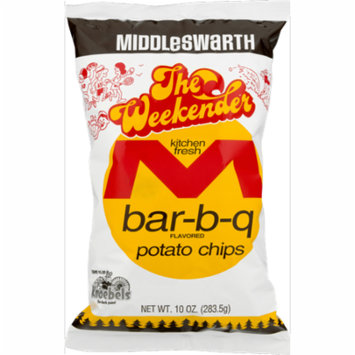 Middleswarth Kitchen Fresh Potato Chips Bar-B-Q Flavored The Weekender - 10 Oz. (4 Bags)