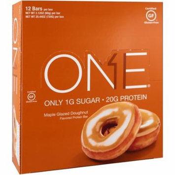 Oh Yeah!, One Bar, Maple Glazed Doughnut, 12 Bars, 2.12 oz (60 g) Each(pack of 4)