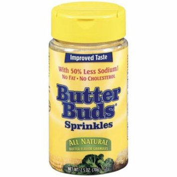 Butter Buds All Natural Sprinkles Butter Flavor Granules 2.5 Oz Shaker (Pack of 12)