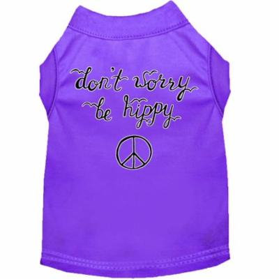 Be Hippy Screen Print Dog Shirt Purple Sm (10)