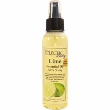 Lime Essential Oil Body Spray (Double Strength), 4 ounces