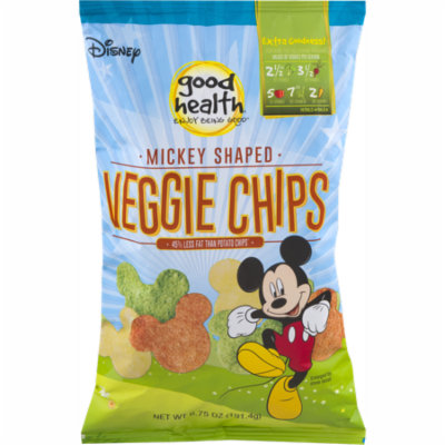 Good Health Natural Foods Veggie Chips Mickey Mouse Shaped - 6.75 oz. Bag (2 Bags)