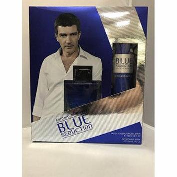 Antonio Banderas BLUE SEDUCTION Men 2 pc Set 3.4 EDTS, 5 Deodorant Spray
