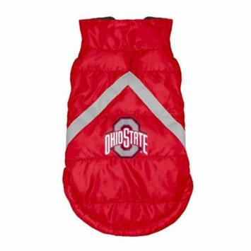 Ohio State Buckeyes Pet Puffer Vest - Medium