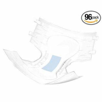 Adult Disposable Ultra Brief Diaper, Medium, Heavy Absorbency, Tab Closure, BRULMD - Case of 96, * Breathable side panels for drier, healthier skin *.., By McKesson
