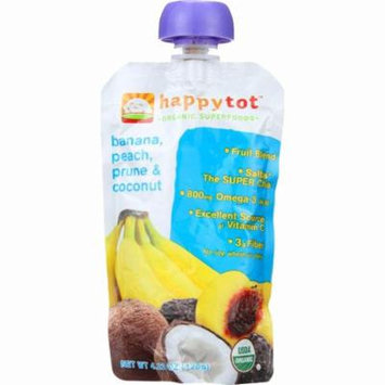 Happy Tot Toddler Food - Organic - Stage 4 - Banana Peach Prune And Coconut - 4.22 Oz - Pack of 16
