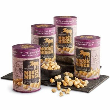Moose Munch 4-Pack Limited Edition Premium Popcorn - White Chocolate Macadamia Nut by Harry & David