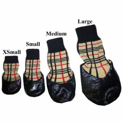 HDP Waterproof rubberized SOCKS boots Set of 4 Size:Large Color:Khaki