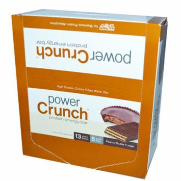 BNRG, Power Crunch Protein Energy Bar, Peanut Butter Fudge, 12 Bars, 1.4 oz (40 g) Each(pack of 4)
