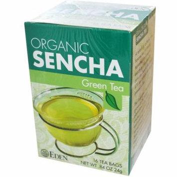 Eden Foods, Organic, Sencha Green Tea, 16 Tea Bags, .84 oz (pack of 6)