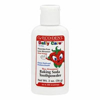Eco-Dent - Daily Care For Kids Baking Soda Toothpowder Real Strawberry - 2 oz.(pck of 3)