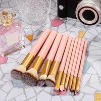 10PCS Makeup Brush Set Powder Foundation Eyeshadow Brushes Cosmetics Tool