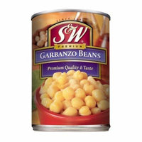 S&W Garbanzo Beans 15.5 Oz (Pack of 12)