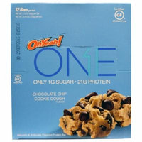 Oh Yeah!, One Bar, Chocolate Chip Cookie Dough Flavor, 12 Bars, 2.12 oz (60 g) Each(pack of 2)