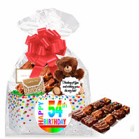 54th Birthday / Anniversary Gourmet Food Gift Basket Chocolate Brownie Variety Gift Pack Box (Individually Wrapped) 12pack