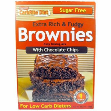 Universal Nutrition, Doctor's CarbRite Diet, Extra Rich & Fudgy Brownies with Chocolate Chips, 11.5 oz (pack of 4)