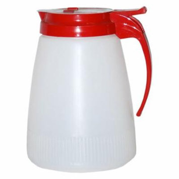 Traex 4748-02 Dripcut 48 Ounce Syrup Server with Red Top