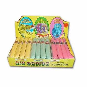 Big Choice Bubble Gum Assorted Gum Cigars Box 0f 36 Cigars