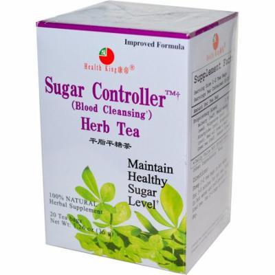 Health King, Sugar Controller (Blood Cleansing) Herb Tea, 20 Tea Bags 1.26 oz (pack of 12)