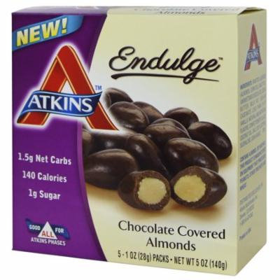 Atkins, Endulge, Chocolate Covered Almonds, 5 Packs, 1 oz (28 g) Each(pack of 12)
