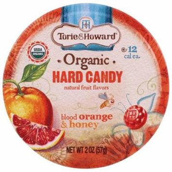 Torie & Howard, Organic, Hard Candy, Blood Orange & Honey, 2 oz(pack of 12)