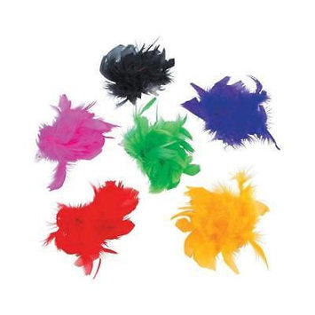 IN-13757114 Marabou Hair Clips Per Dozen