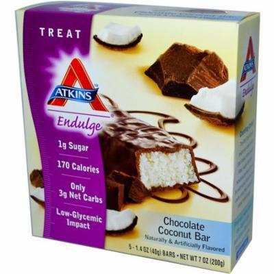 Atkins, Endulge, Chocolate Coconut Bar, 5 Bars, 1.4 oz Each(pack of 2)
