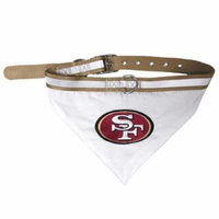 San Francisco 49ers Dog Collar Bandana - Medium