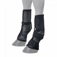 Horse Contour Fly Boots with Neoprene Spine Black 73502BK