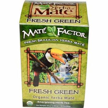 Mate Factor, Organic Yerba Mate, Fresh Green, 24 Tea Bags, 2.96 oz(pack of 12)