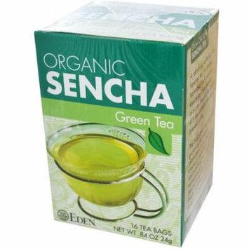 Eden Foods, Organic, Sencha Green Tea, 16 Tea Bags, .84 oz (pack of 4)