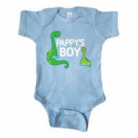 Pappys Boy Grandson Gift Infant Creeper