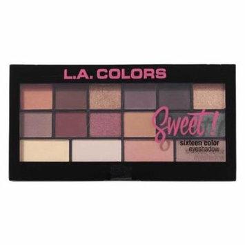 (6 Pack) L.A. Colors Sweet! 16 Color Eyeshadow Palette - Seductive