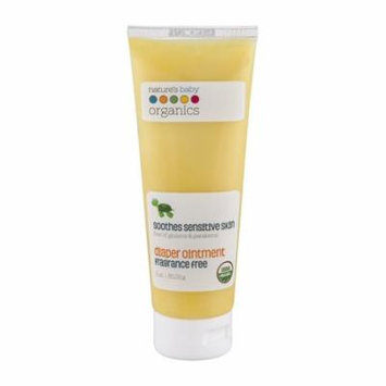 Nature's Baby Organics Diaper Ointment, Fragrance Free, 3 oz. | Soothing Skin Relief for Babies, Kids, & Adults! Natural, Gentle, and Soft for Chafing | No Synthetic Chemicals, Glutens, or Parabens