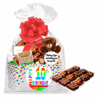 10th Birthday / Anniversary Gourmet Food Gift Basket Chocolate Brownie Variety Gift Pack Box (Individually Wrapped) 12pack