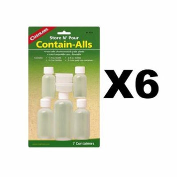 8525 Store & Pour Contain-Alls Plastic Containers, Set includes: 1 - 4 oz. (120 ml) bottle, 2 - 2 oz. (60 ml) bottles, 2 - 1 oz. (30 ml) bottles and.., By Coghlans