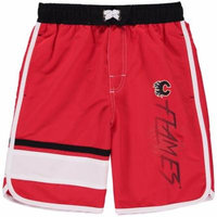 Calgary Flames Youth Color Block Swim Trunks - Red