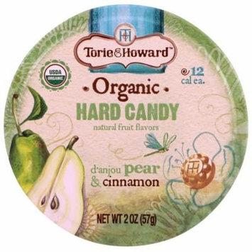 Torie & Howard, Organic, Hard Candy, D'Anjou Pear & Cinnamon, 2 oz (pack of 12)