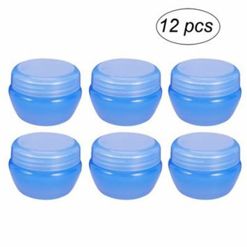 12Pcs 20g Mushroom Bottles Travel Cosmetic Containers Cream Jar with Sealed Lid Perfect for Pills Medication Ointments and Other Beauty and Health Goods (Blue)