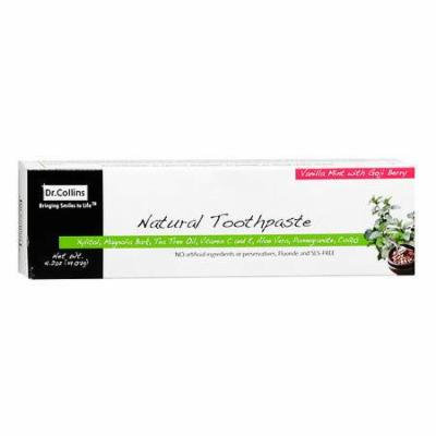 Dr. Collins Natural Toothpaste Vanilla Mint with Goji Berry 4.02 oz.(pack of 3)