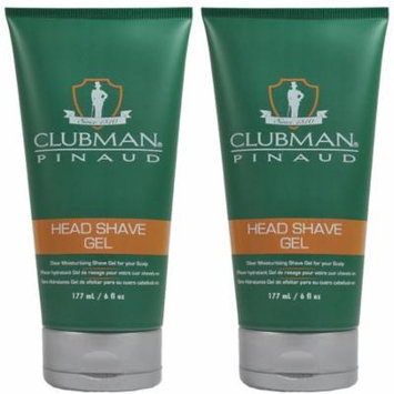 Clubman Pinaud Head Shave Gel Barber Tools 6 oz 2 x BB-28000